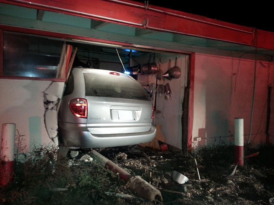 Alleged Drunk Driver Crashes Stolen Vehicle into Summit INN
