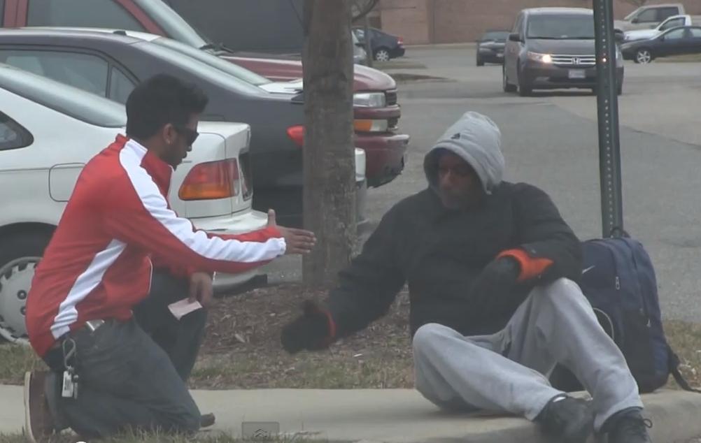 Man gives Homeless Man winning lottery Ticket