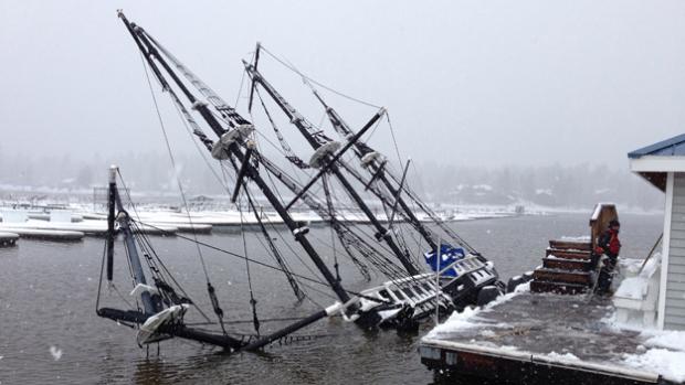 Big Bear sunken pirate ship