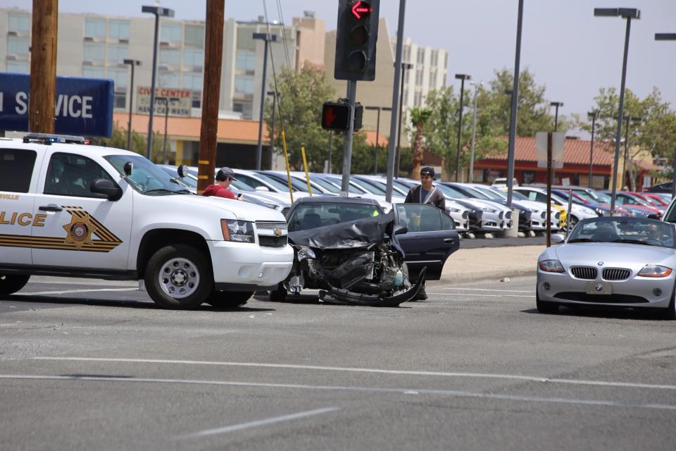 Police car involved in accident