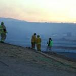Ranchero Road Overpass Fire