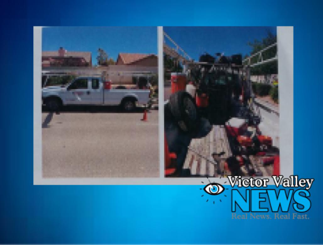 Landscaping truck stolen in Victorville.