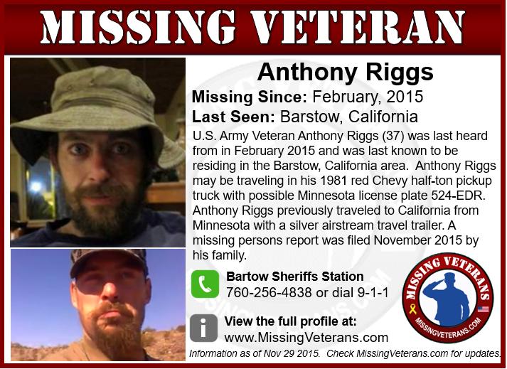 Missing U.S. Army Veteran
