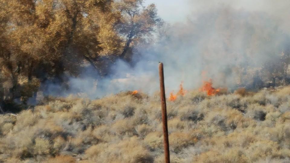 Sunday, December 13th river bottom fire.