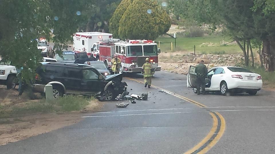 head on crash in Hesperia