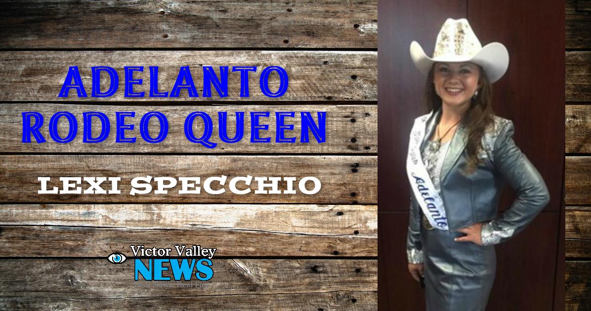 Lexi Specchio, newly chosen Adelanto Rodeo Queen