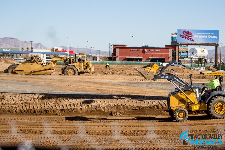 Construction began for new restaurants coming soon. (Gabriel D. Espinoza, Victor Valley News)