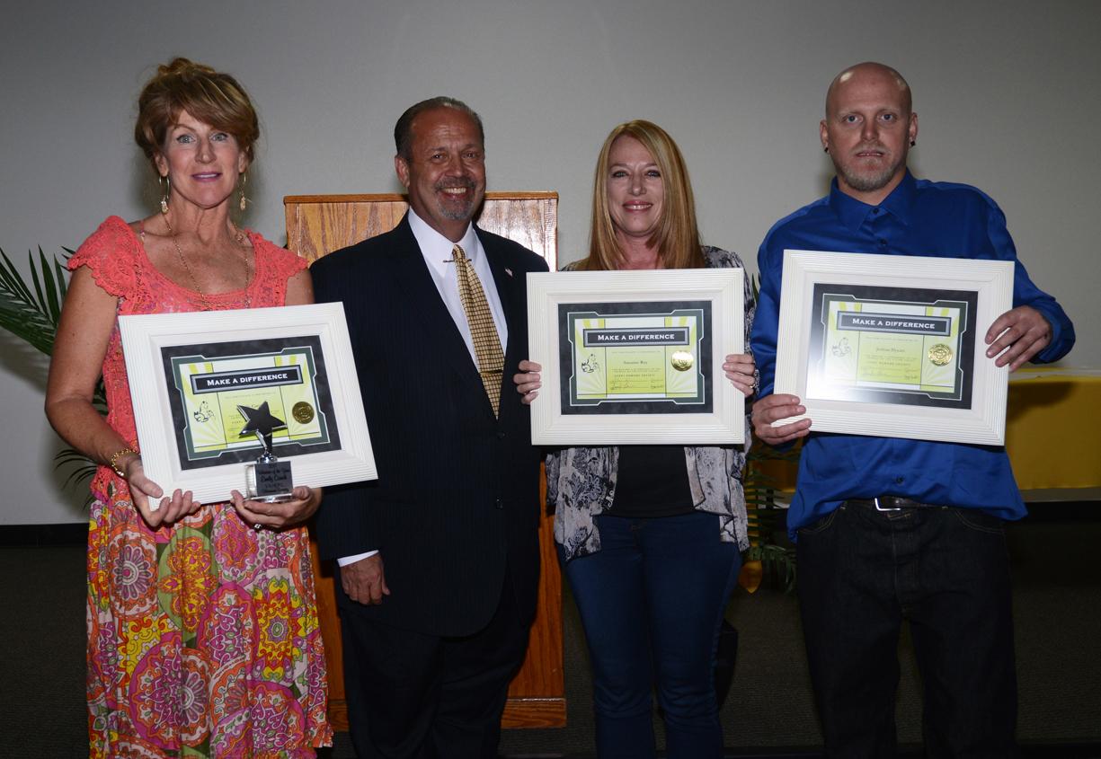 Photo: (left) Emily Caruth, Hesperia Mayor Paul Russ, Susanne Roy, and Joshua Dysart