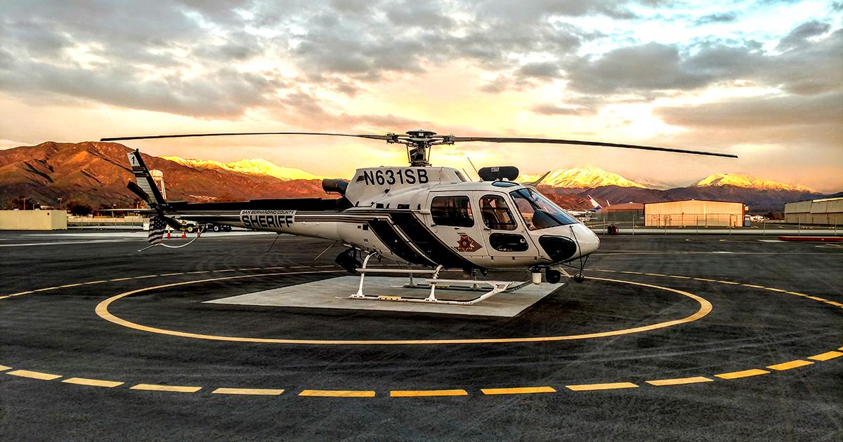 San Bernardino County Sheriff's helicopter 40King1. (Photo courtesy of SBSD Headquarters)