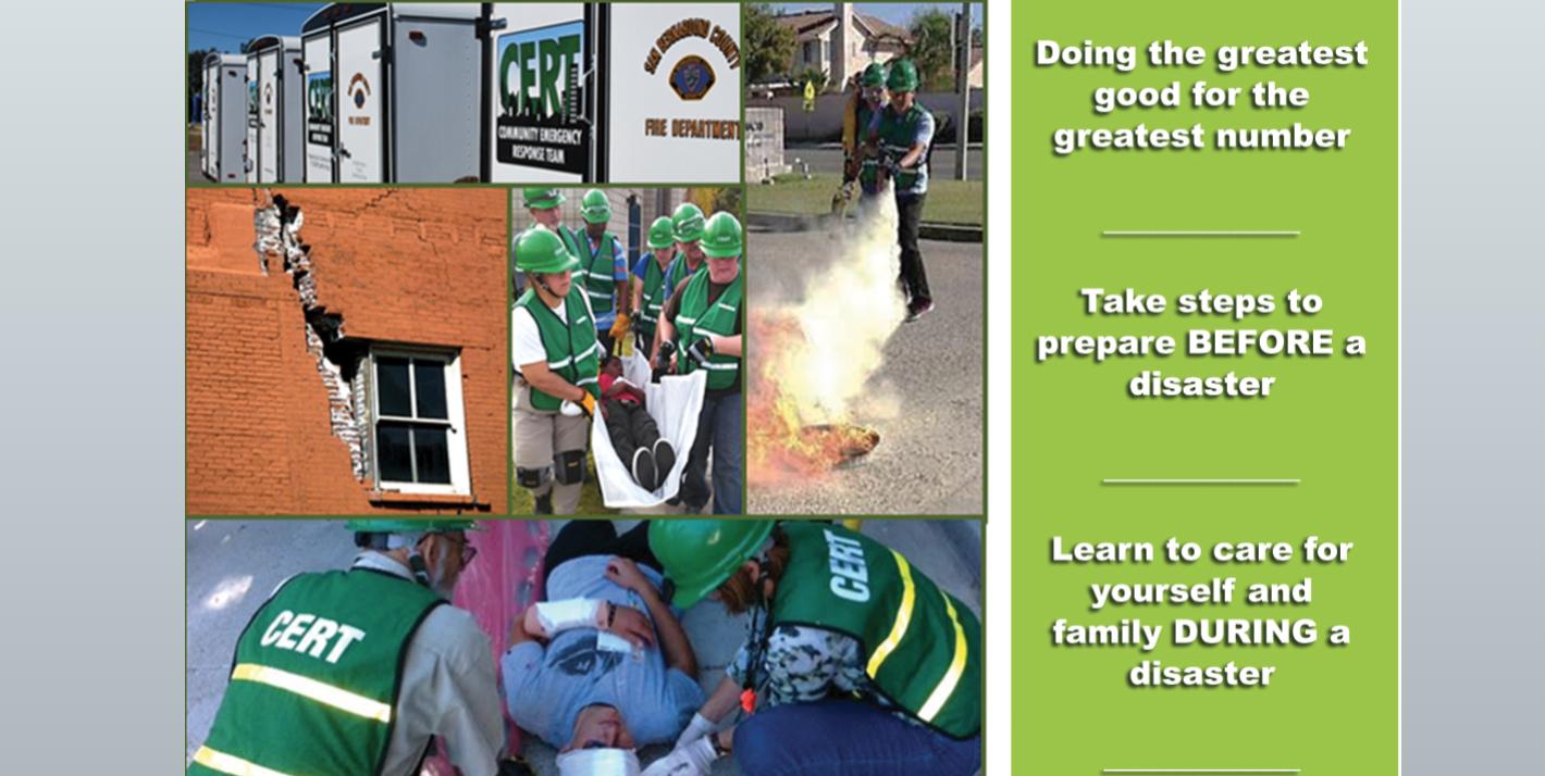 Free Community Emergency Response Basic Training Classes