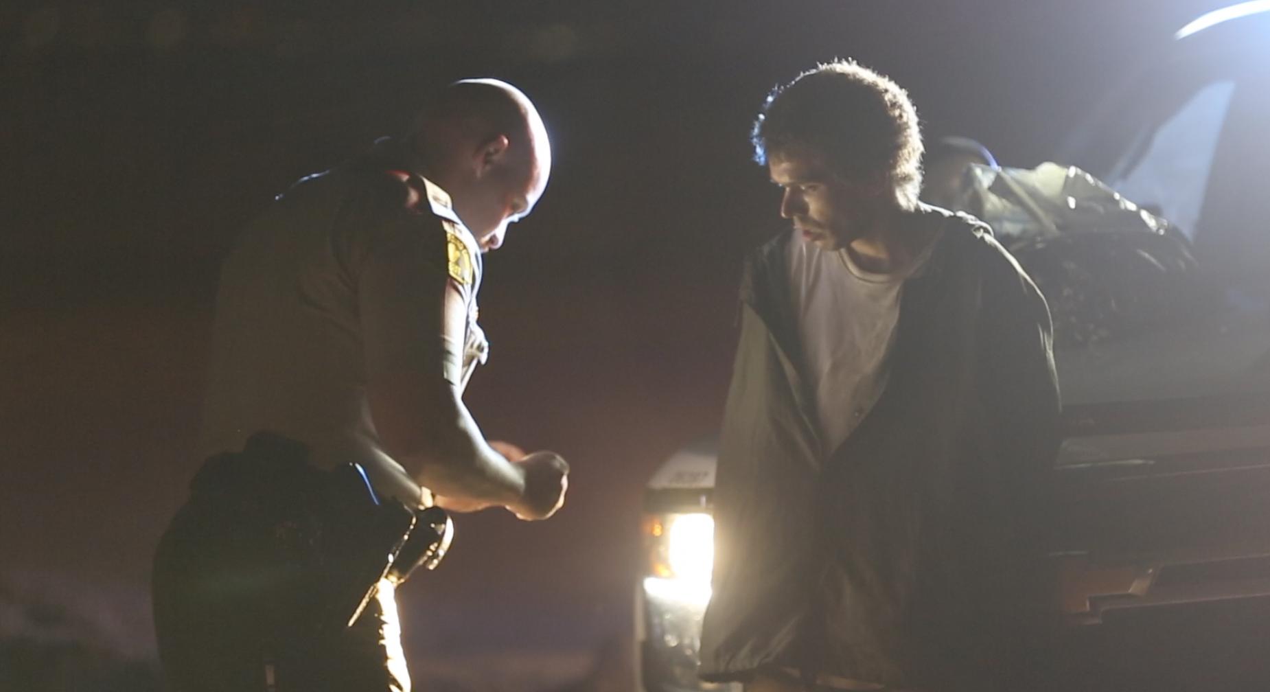 Pursuit suspect arrested by deputies. (Gabriel D. Esoinoza, Victor Valley News)
