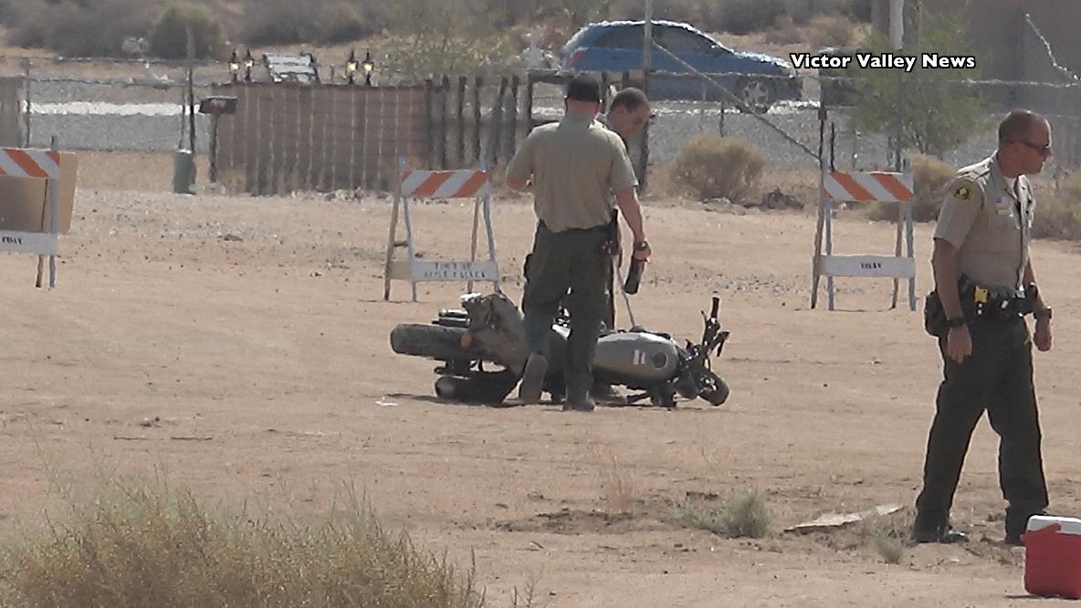 A motorycle rider was found deceased in Apple Valley Saturday morning. (Hugo C. Valdez, Victor Valley News)