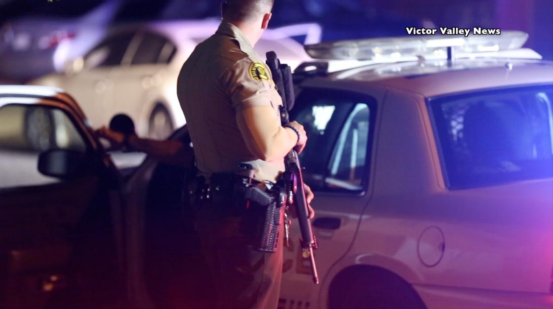 A parolee was arrested following a deputy involved shooting in Adelanto. (Gabriel D. Espinoza, Victor Valley News)