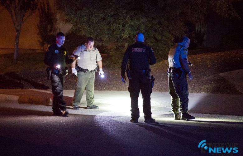 Deputies located several shell casings. (Hugo C. Valdez, Victor Valley News)