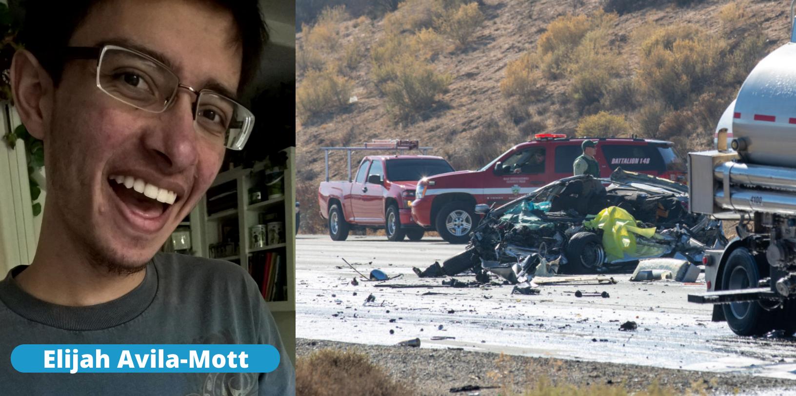 San Bernardino County Coroner Identified the man as 22 year-old Elijah Steven Avila-Mott of Diamond Bar.