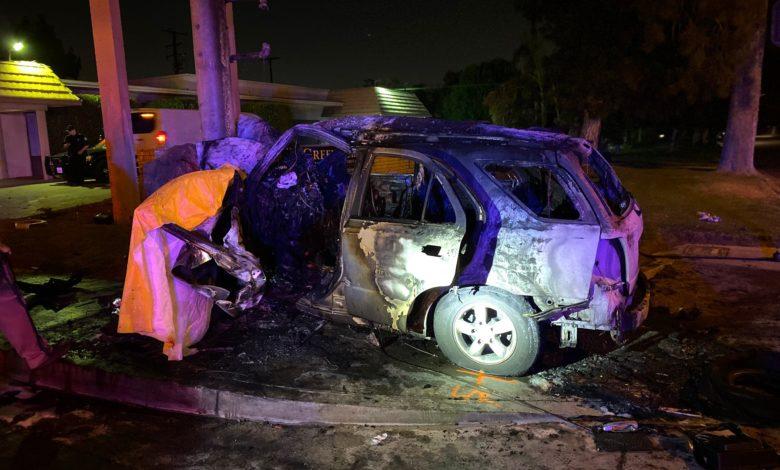 Photo of Woman killed in fiery crash in Bloomington Sunday night