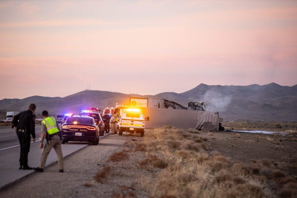 15 freeway fatal truck crash