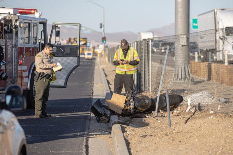 motorcycle crash victorville two people injured