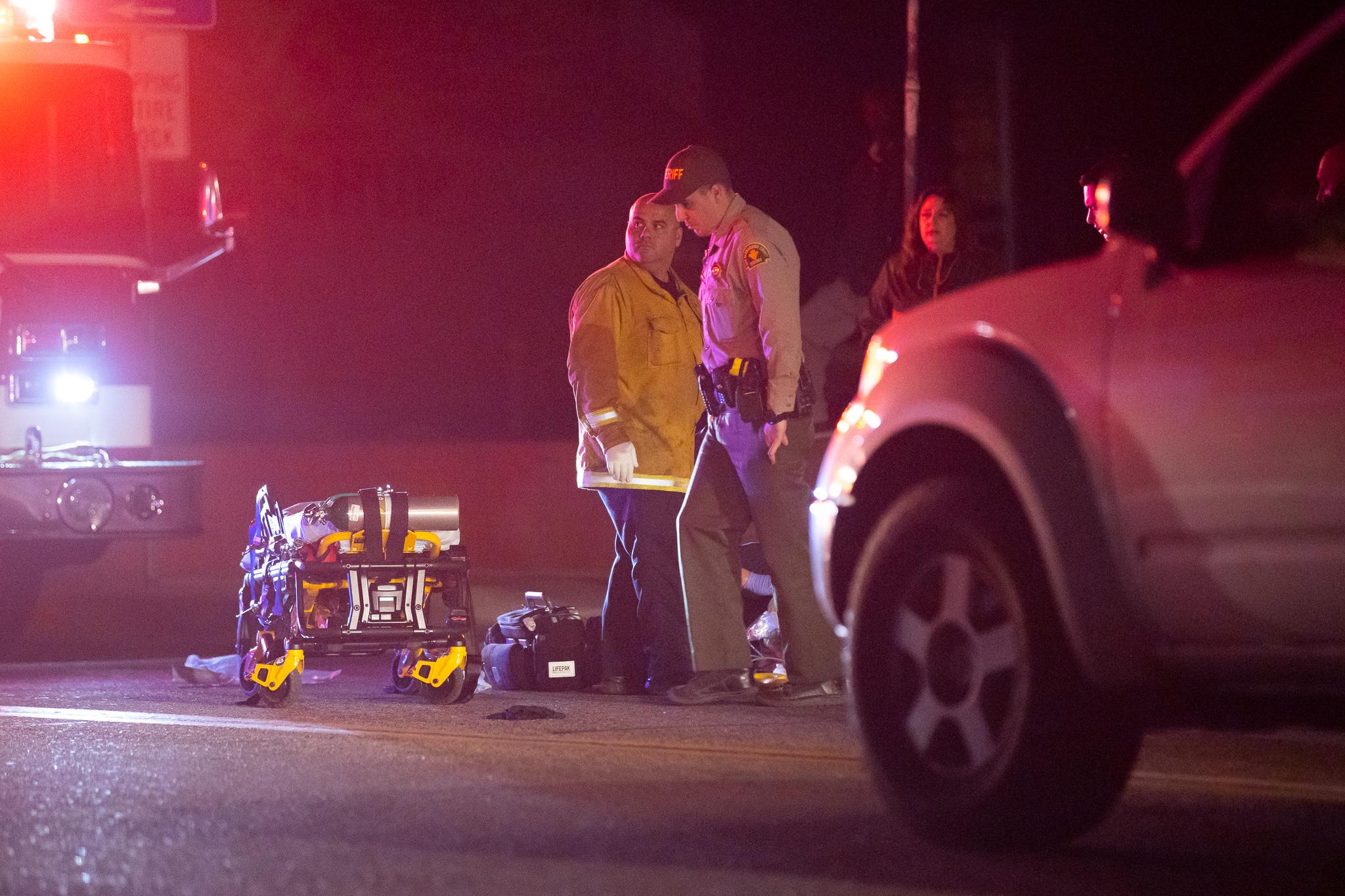 pedestrian struck on hesperia rd in victorville