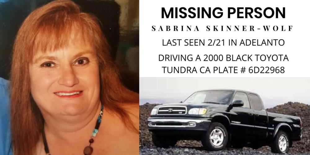missing adelanto woman