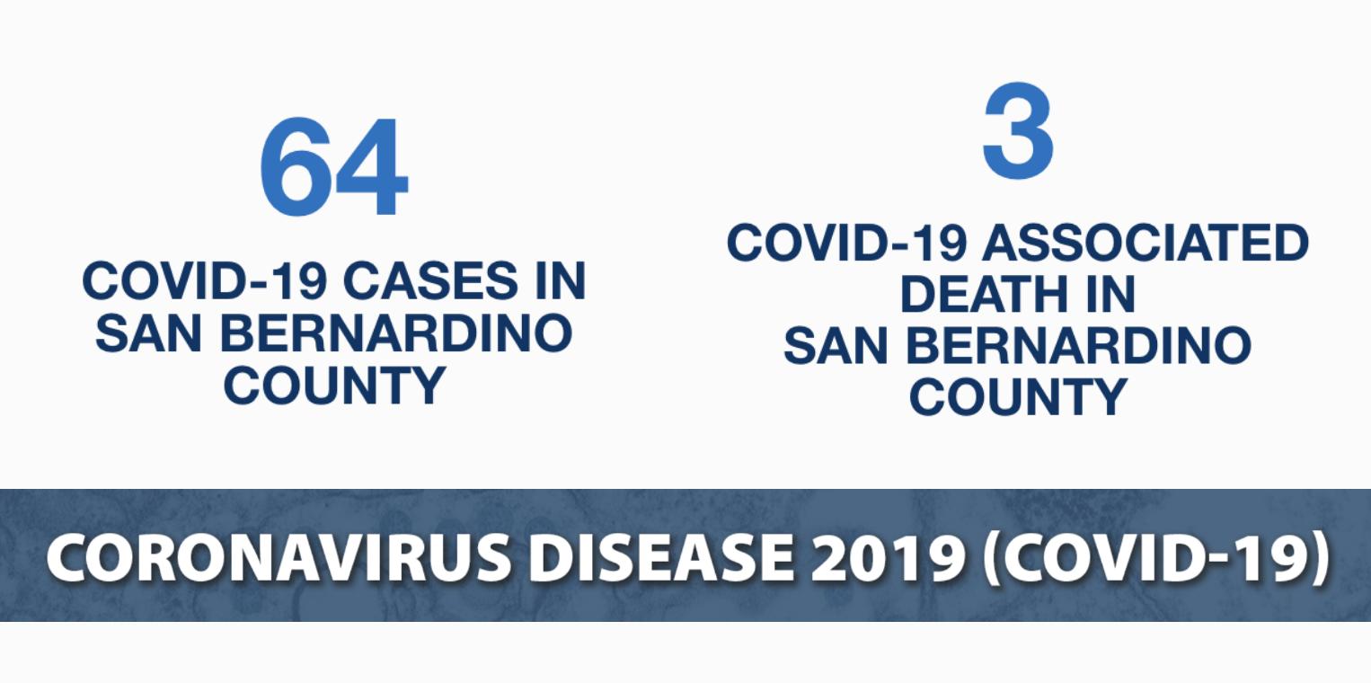 64 positive cases san bernardino county
