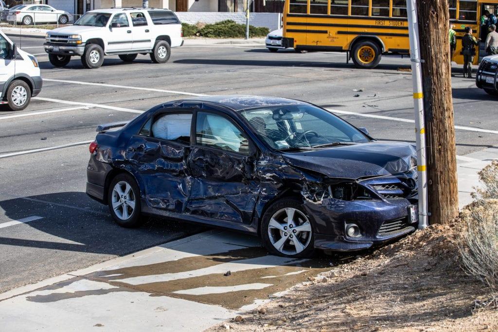school bus crash hit and run victorville
