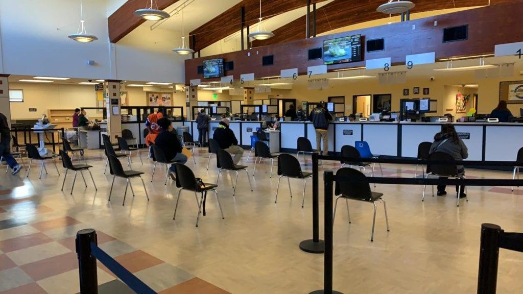 Victorville DMV social distancing