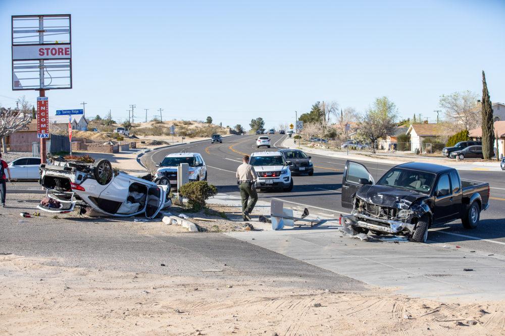 Village Drive rollover crash Victorville