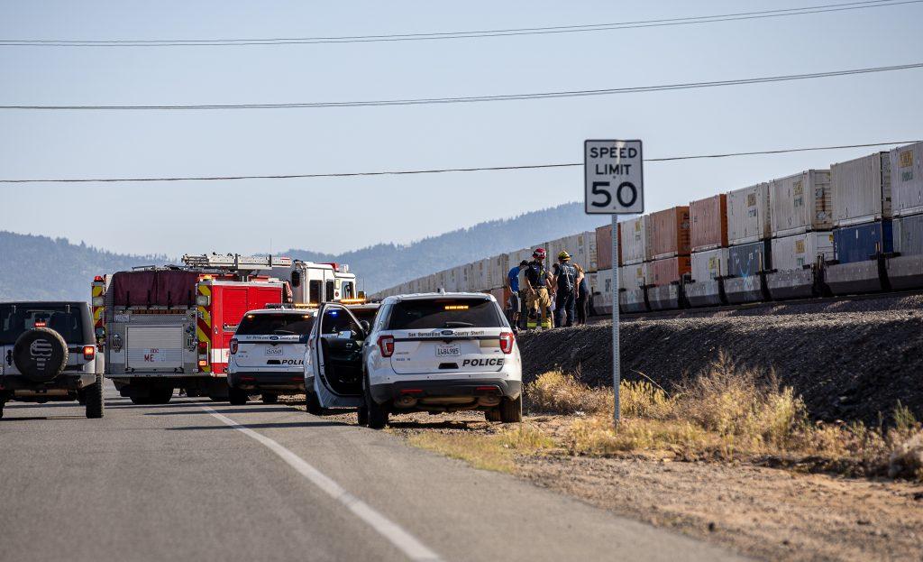 A male was struck and killed by a train Saturday in Hesperia. (Gabriel D. Espinoza, VVNG.com)