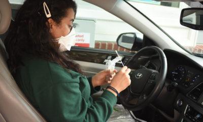 Drive-thru testing Patient swab