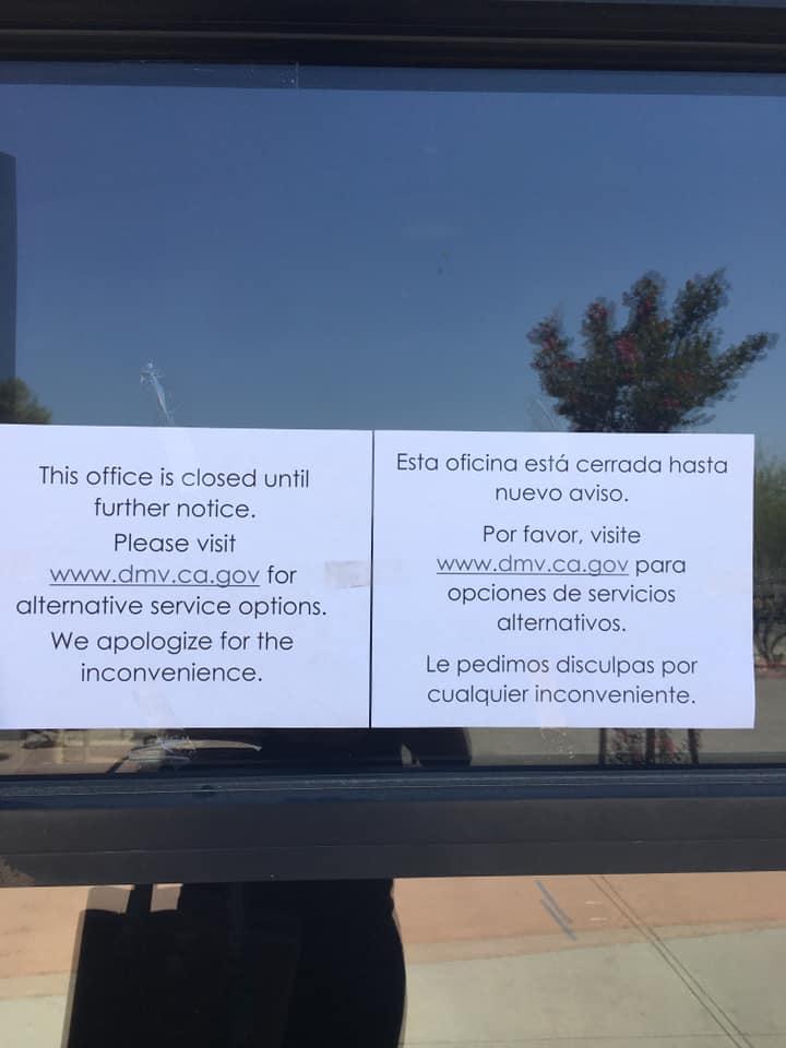 Victorville DMV closed