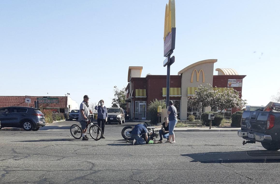 Motorcycle accident Main Street Hesperia