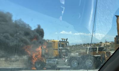 truck fire hesperia 15 freeway