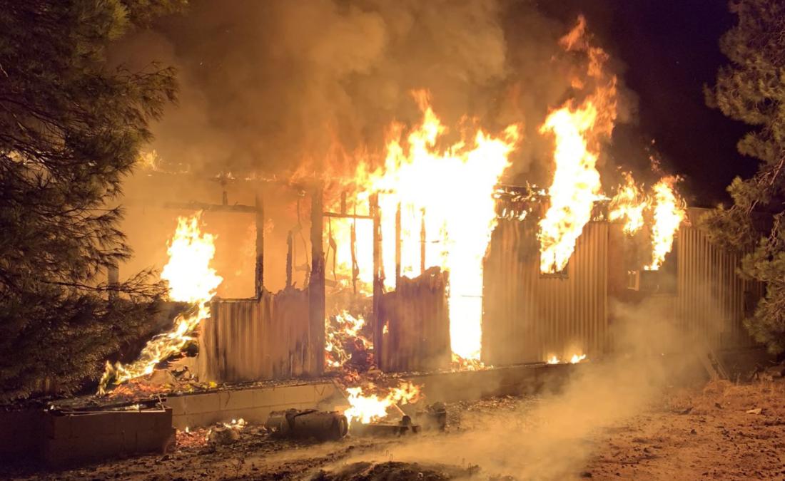 Fire in Apple Valley