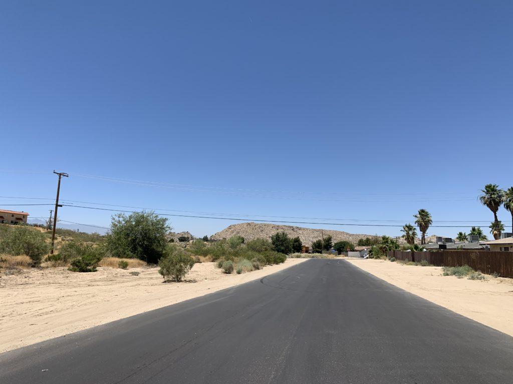 The newly constructed roadway behind Nico Plaza. (Hugo C. Valdez, VVNG.com)