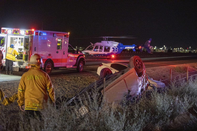 northbound 15 freeway crash