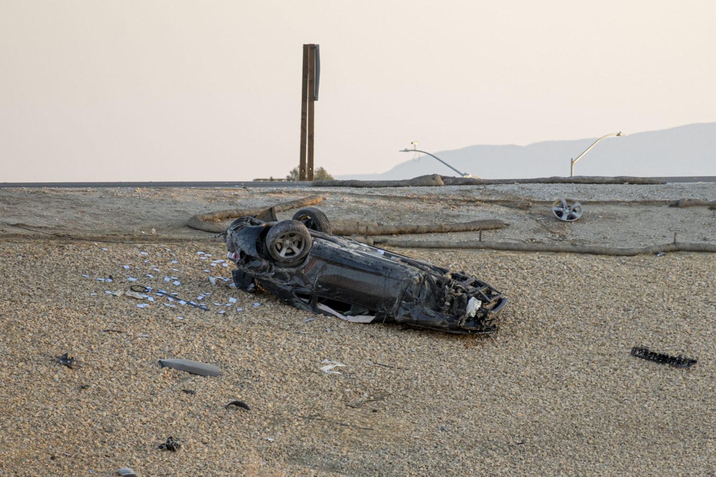 the vehicle rolled off Amargosa Roa