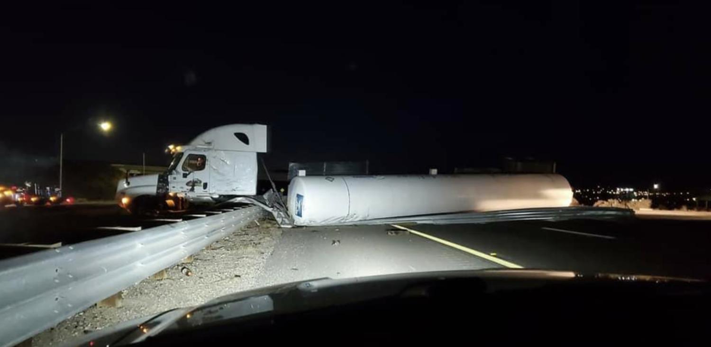 crash tractor trailer sb 15 freeway