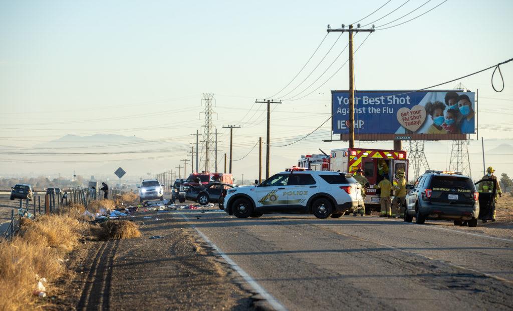 Single-vehicle traffic accident on Mariposa Road in Hesperia