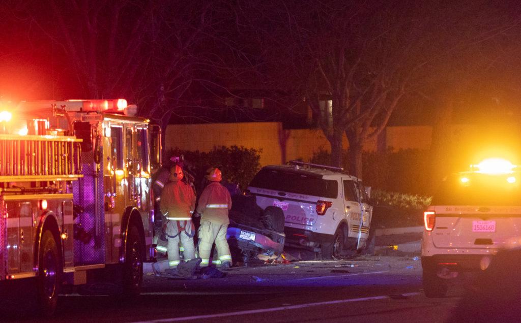 Fatal crash investigation on Amargosa Road in Victorville