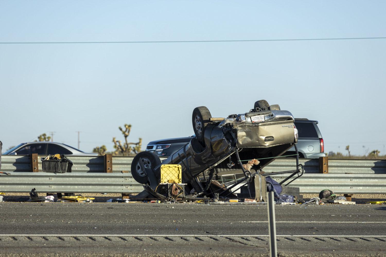 Overturned 2012 Toyota Tacoma. (Photo by Hugo C. Valdez, VVNG.com)
