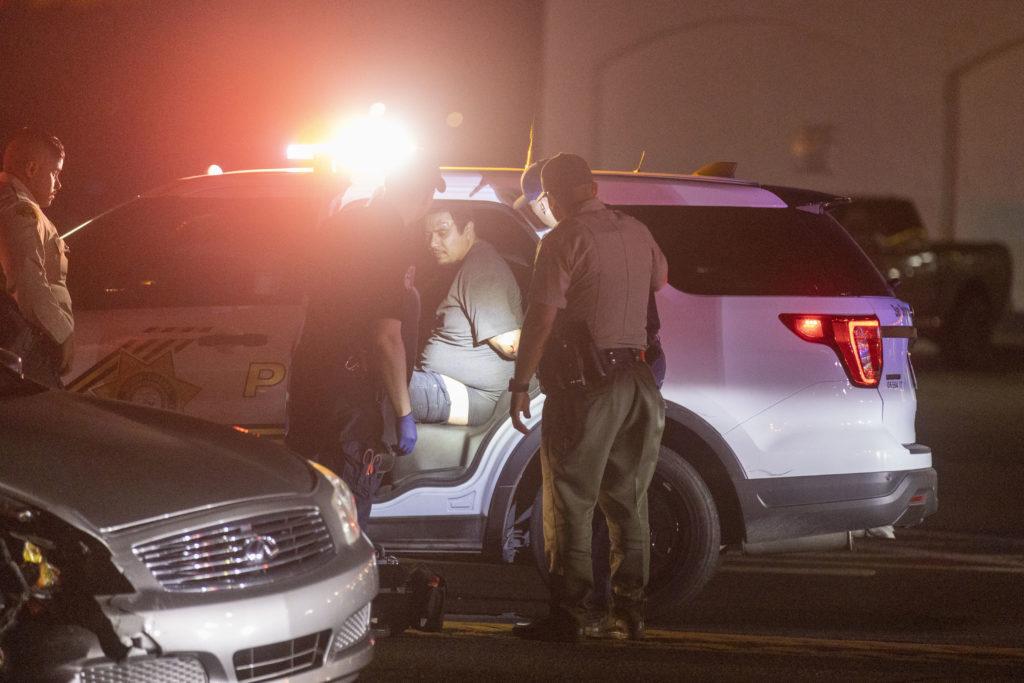 pursuit suspect arrested after crash on Highway 395