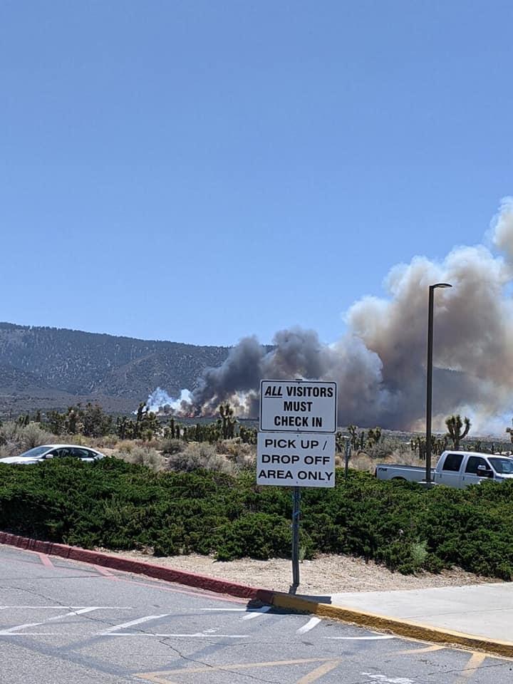 brush fire in la county