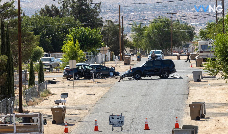 fatal traffic accident investigation in Hesperia
