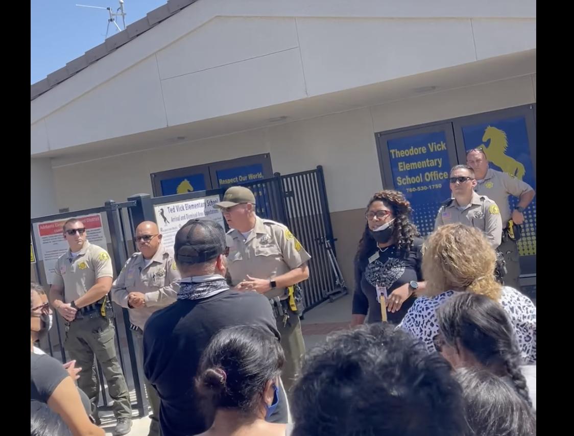 Adelanto school on lockdown