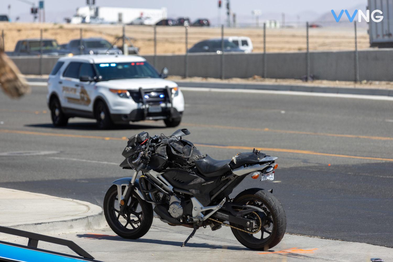 motorcyclist injured in crash on amargosa road in victorville