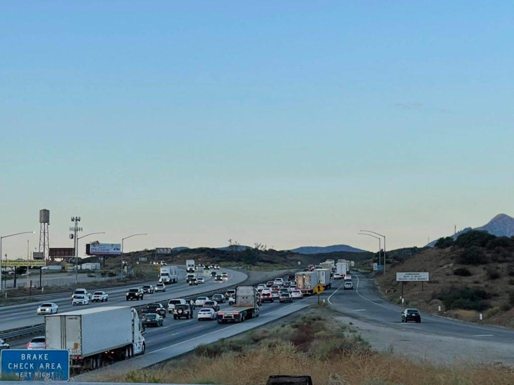 nissan titan truck fire cajon pass