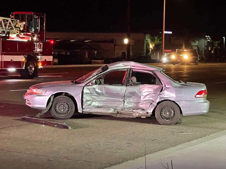 vehicle crash on Bear Valley Road